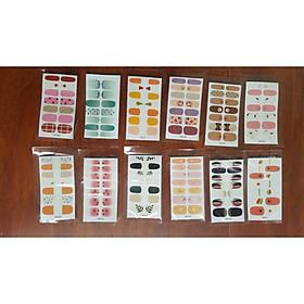 Set 12 bộ dán móng thời trang