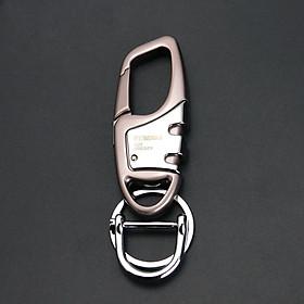 Móc chìa khoá xe máy ô tô OMUDA inox cao cấp có chốt đeo thắt lưng 3775