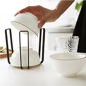kệ úp chén đĩa KENA mini MN22 - kệ để đồ nhà bếp đa năng, úp chén đĩa, úp cốc, để thớt, để vung nồi, chảo tiện lợi, kệ mini nhỏ gọn, chất liệu sắt sơn tinh điện chống giật  (Giao màu ngẫu nhiên)