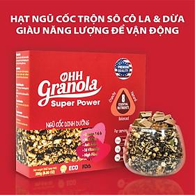 Giảm Cân Ngũ Cốc Tăng Cơ Giàu Năng Lượng  Chocolate Đen - Super Power (Ohh - Granola) Tiêu Chuẩn FDA Hoa Kỳ, Hộp 250g