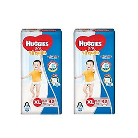2 Gói Tã Quần Huggies Dry Gói Đại XL42 (42 Miếng) - Bao Bì Mới