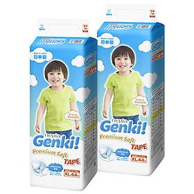 Bộ 2 Gói Tã dán Nhật cao cấp Genki (XL, 44 miếng)-0