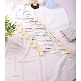 Combo 10 móc kẹp nhựa màu trắng treo quần áo tiện dụng