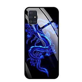 Ốp lưng kính cường lực cho Samsung Galaxy A51 - 03094 0270 DRADON02 - Hàng Chính Hãng