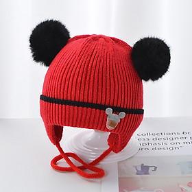 Mũ len lót bông cho bé sơ sinh 0-5 tháng-M52