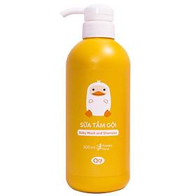 Sữa Tắm Gội AGI 500ml - Hương Phấn Baby