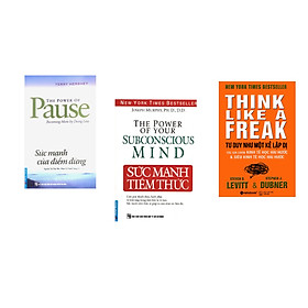 Combo 3 cuốn sách: Sức Mạnh Của Điểm Dừng + Sức Mạnh Tiềm Thức + Tư duy như một kẻ lập dị