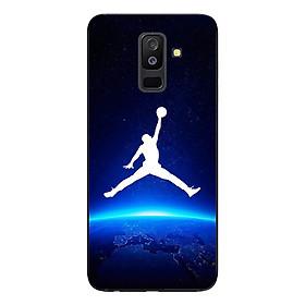 Ốp Lưng Dành Cho Samsung Galaxy A6 Plus - Mẫu Jordan Nền Xanh Đen