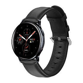 Dây Da Genuine Leather Dành Cho Galaxy Watch Active 2, Galaxy Watch Active 1, Galaxy Watch 42 (Size 20mm)