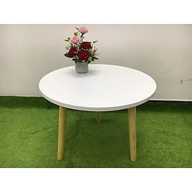 Bàn tròn sofa phòng khách sivali 60x45, bàn trà, bàn coffee, cafe, cà phê, bàn gỗ 02