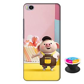 Ốp lưng nhựa dẻo dành cho Xiaomi Mi 5S in hình Heo Con Vào Bếp - Tặng Popsocket in logo iCase - Hàng Chính Hãng