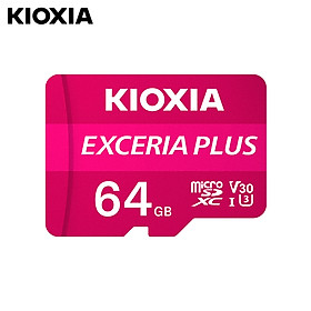 KIOXIA 64GB TF(Micro SD) Memory Card Support 4K HD Video U3 High Speed Waterproof Memory Card for