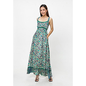 Đầm Maxi Hoa Lá Xanh Luna Llena LN174PJ06-BU