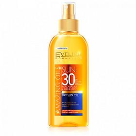 Xịt Chống Nắng Tinh Dầu Hạt Macca SPF30 EVELINE Dry Sun Oil