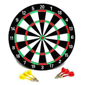 The Professional 15 Inch 2-Sided Needle Darts Board with 6 Color Darts PT15