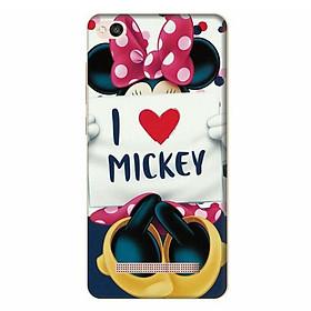 Ốp Lưng Dành Cho Điện Thoại Xiaomi Redmi 4A - I Love Mickey