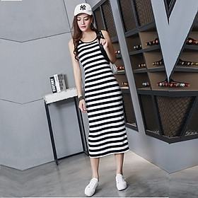 Đầm bầu kẻ sọc ngang thun dài Haint Boutique HB12