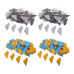 200x Sew-on Mirror Rhinestone Flat Back Mirror Beads w/ Hole for Bags Decor