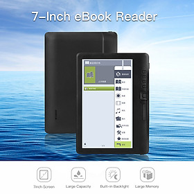 BK7019 Portable e-Book Reader 8GB 7inch Multifunction E-Reader Backlight Color LCD Display Screen