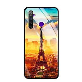 Ốp lưng kính cường lực cho điện thoại Realme 5 Pro - 0299 PARIS01 - Hàng Chính Hãng
