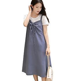 Đầm bầu công sở yếm AZUNO HH26022