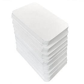 500 flashcard trắng không đục lỗ 5x8cm bo góc