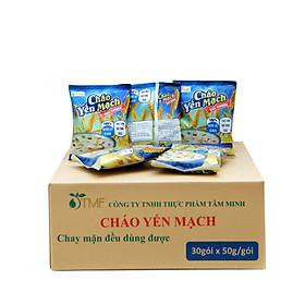 Thùng 30 gói cháo yến mạch ăn liền Tâm Minh ( 30 gói x 50 gam)