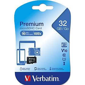 Thẻ nhớ Verbatim Micro SDHC 32GB Class 10 - Hàng Chính Hãng
