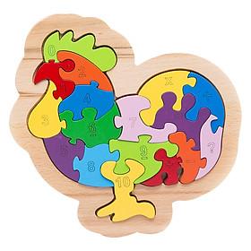 Đồ Chơi Gỗ Ghép Hình Puzzle Tottosi Gà 303012 (17 Mảnh Ghép)