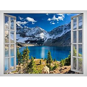 Tranh dán tường cửa sổ 3D VTC cảnh đẹp thiên nhiên VT0310