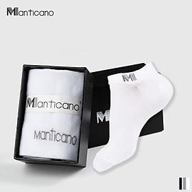 Tất nam Manticano cổ ngắn vải Bamboo (sợi tre) cao cấp, Công nghệ Nano bạc kháng khuẩn khử mùi