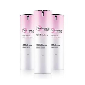 Tinh chất dưỡng trắng chuyên sâu trắng hồng rạng rỡ Bio-essence Bio-white Bio-essence white advanced whitening serum chiết xuất tanaka & camellia 30ml