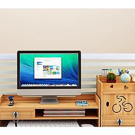Kệ đựng hồ sơ ngăn kéo có khóa, kết hợp mặt bàn để laptop máy tính và tài liệu văn phòng để bàn làm việc thiết kế thông minh, gọn gàng S088