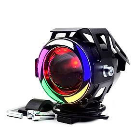 Đèn Trợ Sáng Xe Máy U7 7 màu ZAHA tặng kèm rơ le và công tắc đảo chiều