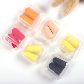COMBO 3 Bộ Nút bịt tai chống ồn có nhiều màu (tặng kèm hộp đựng)