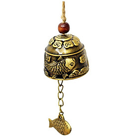 (Toponeto)  Best Seller Chinese Dragon/Fish Feng Shui Bell Blessing Good Luck Fortune
