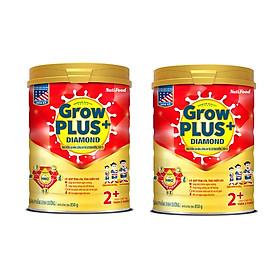 Bộ 2 Lon Sữa Bột NutiFood GrowPLUS+ Diamond 2+ Dinh Dưỡng Cao Năng Lượng Cho Trẻ Suy Dinh Dưỡng, Thấp Còi - 850g