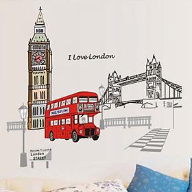 Decal dán tường xe buýt London