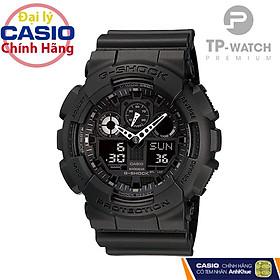 Đồng Hồ Nam G-Shock GA-100-1A1HDR All Black Dây Nhựa