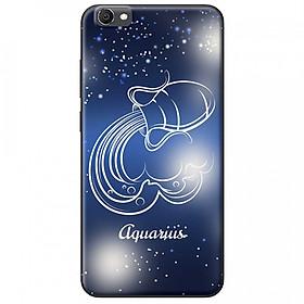 Ốp lưng  dành cho Vivo Y55 mẫu Cung hoàng đạo Aquarius (xanh)