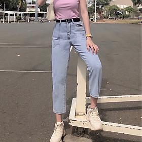 Quần jean nữ dáng BAGGY nữ Julido Store, chất jean co dãn nhẹ lưng cao mẫu mới BG128