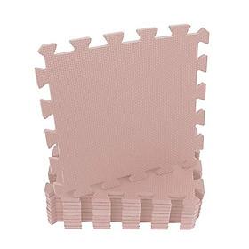 Combo 10 tấm Thảm Cho Trẻ Thơ Trơn 30cmx30cm màu kem