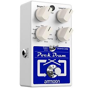 ammoon PockDrum Drum & Loop Guitar Effect Pedal 3 Modes 11 Drum Styles 11 Rhythm Types Built-in Looper Max. 20min