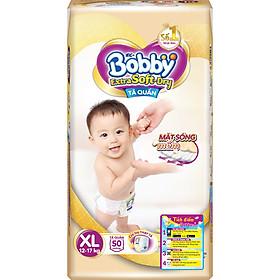Tã Quần Siêu Mềm Bobby Extra Soft Dry Gói Siêu Lớn XL-50 Miếng (12-17kg)
