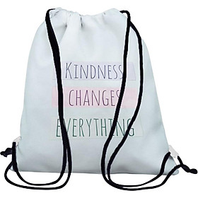Túi Rút Unisex In Hình Kindness Changes Everything BDHK079