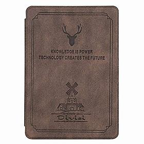 Bao Da Case Cover Cho Máy Đọc Sách Kindle Paperwhite Gen 4 10th 2018 (Màu Nâu)