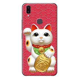 Ốp Lưng Dành Cho Vivo V9 - Mèo May Mắn Nền Đỏ 1