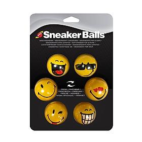 Bóng khử mùi kháng khuẩn cho giày, túi xách Sneaker Ball Face 20-877, vỉ 6 viên