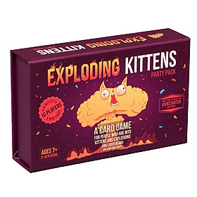 Funny Card Game Exploding Kittens Party Pack Strategic Board Game for Family Friends
