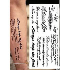 Hình Xăm Dán Tattoo 3D Always Keep The Faith Bảng lớn 10cm x 22cm
